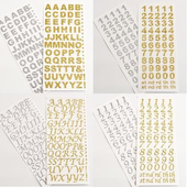 15mm Self Adhesive Glitter Numbers