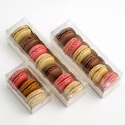 10 Macaron Boxes Clear With Insert Large,Medium & Small Availabl